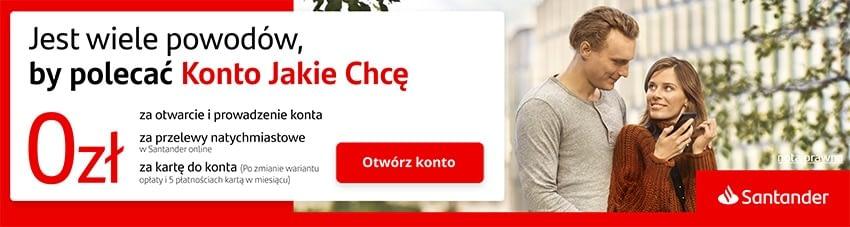 Jakie konto wybrać | Darmowe Konto osobiste Santander | Konto jakie chcę